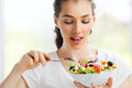 Eating healthy food Stock Images