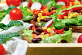 Eating healthy food vegetarian food vegetarian sandwich on table closeup Stock Image