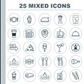 Eating Icons Set. Collection Of Kitchenware, Silverware, Board And Other Elements. Also Includes Symbols Such As Lolly