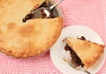 Eating Mincemeat Pie Royalty Free Stock Photo