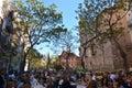 Eating Paella, traditional Valencian food