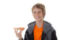 Eating pizza Royalty Free Stock Image