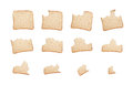 Eating a slice of wholemeal bread sequence biting isolated on white background Stock Photos
