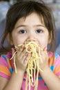 Eating Spaghetti Royalty Free Stock Photo