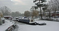Eaton socon marina in the depths of winter Stock Image