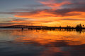The Eau Gallie Causeway in the Early Morning Royalty Free Stock Photo