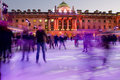 Eautiful Somerset house ice rink Royalty Free Stock Photo