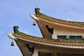 Eave detail of Chinese old style architecture Royalty Free Stock Photos