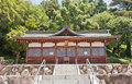 Ebisu Hall of Kibitsu Shinto Shrine in Okayama, Japan Royalty Free Stock Photo