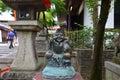 Ebisu statue god of fishers or merchants is the seven gods of fortune are the seven gods of good fortune Yasaka shrine Royalty Free Stock Photo