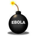 Ebola bomb shows infectious infected and epidemic representing hazard beware alert Royalty Free Stock Image