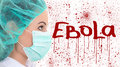 Ebola concept female doctor in surgeon mask isolated on white background Royalty Free Stock Photos