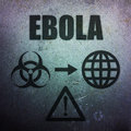 Ebola global pandemic threat warning Royalty Free Stock Images