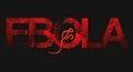 Ebola spreading symbolic vector image of virus Royalty Free Stock Photos