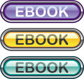 Ebook Button download look Glossy vector Royalty Free Stock Photo