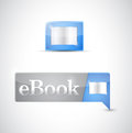Ebook icon button blue download illustration design Royalty Free Stock Images