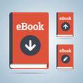 Ebook illustration in download upload and edit modifications vector eps Stock Photos