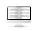 Ebook reader computer illustration design over a white background Royalty Free Stock Image