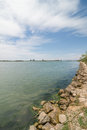 Ebro river mouth at its delta tarragona spain Royalty Free Stock Photo