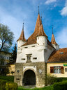 Ecaterina Gate in Brasov city Stock Images