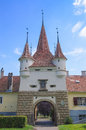 Ecaterina Gate was built for the access of Romanians from Schei district in the fortress of Brasov. Royalty Free Stock Photo