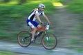 ECB team in mountain bike race Royalty Free Stock Photo