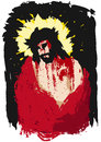 Ecce homo illustration of jesus christ crowned with thorns Royalty Free Stock Photography
