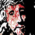 Ecce homo illustration of jesus christ crowned with thorns Royalty Free Stock Image