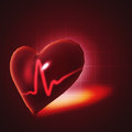 Ecg abstract backgrounds with human d rendered heart Stock Images
