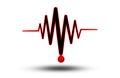 ECG or EKG - medical icon. Royalty Free Stock Photo