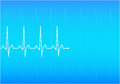 Ecg electrocardiogram blue illustration Stock Photos