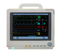 Ecg monitor heart rate with diagram isolated included clipping path Stock Photography