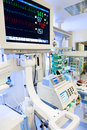 Ecg monitor in neonatal icu intensive care unit Royalty Free Stock Images