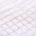 ECG printout Royalty Free Stock Photo