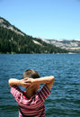 Echo Lake watcher Stock Photo