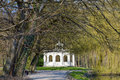 Echo pavilion, Maksimir park at spring time, Zagreb, Croatia Royalty Free Stock Photo