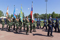 System of officers in the solemn march dedicated to the 305th edition of the A. F. Mozhaisky Military Space Academy