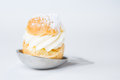 Eclair mini on isolated white background Stock Photography