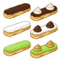 Eclairs With Colorful Glaze