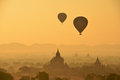 Eclipse in bagan under sunrise bagan is an ancient city located in the mandalay region of burma myanmar Stock Photos