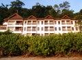 Eco旅游业-在本质设置的热带手段 库存图片