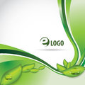 Eco background blue green clean corporate design Stock Photo