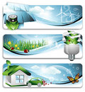 Eco Banners Royalty Free Stock Images