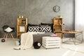 Eco bedroom idea Royalty Free Stock Photo