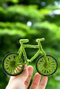 Eco bicycle icon,energy concept Stock Photos