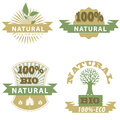 Eco bio badge s natural product great for print web or presentation Stock Photos