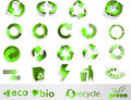 Eco, bio, green and recycle symbols Royalty Free Stock Photography