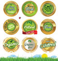 Eco And Bio Labels set Royalty Free Stock Photo