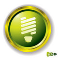 Eco bulb icon Stock Photography