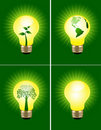 Eco bulb set Stock Images